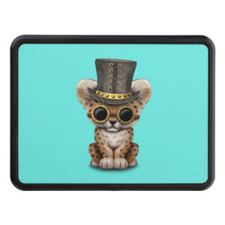 Cute Steampunk Baby Leopard Cub Tow Hitch Cover