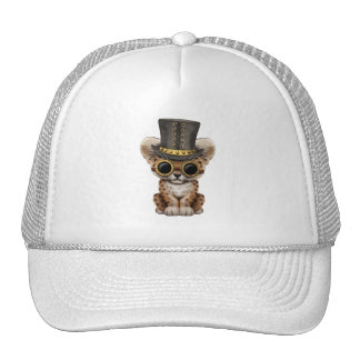Cute Steampunk Baby Leopard Cub Trucker Hat