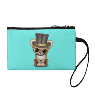 Cute Steampunk Baby Lion Cub Coin Purse