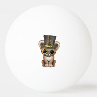 Cute Steampunk Baby Lion Cub Ping Pong Ball
