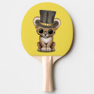 Cute Steampunk Baby Lion Cub Ping Pong Paddle