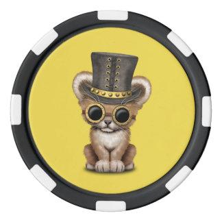 Cute Steampunk Baby Lion Cub Poker Chips