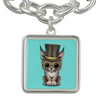 Cute Steampunk Baby Lynx Cub Bracelets