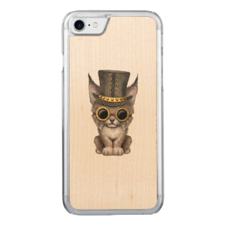 Cute Steampunk Baby Lynx Cub Carved iPhone 8/7 Case