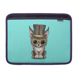 Cute Steampunk Baby Lynx Cub MacBook Sleeve