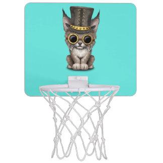 Cute Steampunk Baby Lynx Cub Mini Basketball Hoop