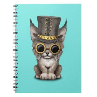 Cute Steampunk Baby Lynx Cub Notebooks