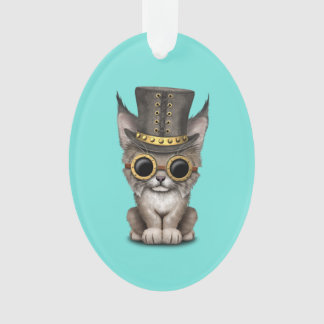 Cute Steampunk Baby Lynx Cub Ornament