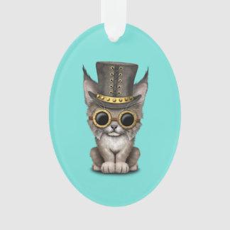 Cute Steampunk Baby Lynx Cub Ornament
