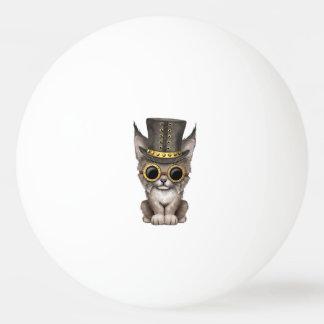 Cute Steampunk Baby Lynx Cub Ping Pong Ball