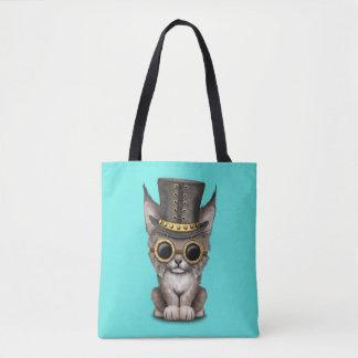 Cute Steampunk Baby Lynx Cub Tote Bag