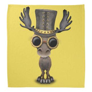 Cute Steampunk Baby Moose Bandana