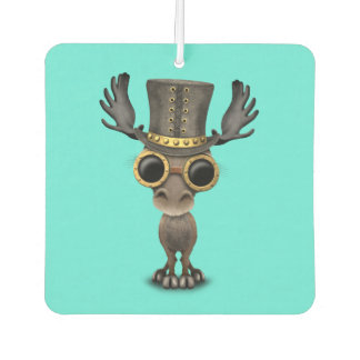 Cute Steampunk Baby Moose Car Air Freshener