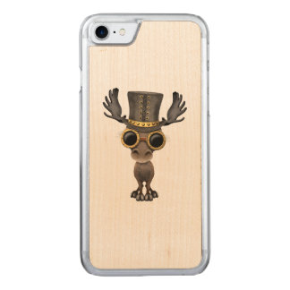 Cute Steampunk Baby Moose Carved iPhone 8/7 Case