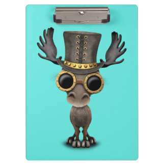Cute Steampunk Baby Moose Clipboard