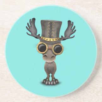 Cute Steampunk Baby Moose Coaster