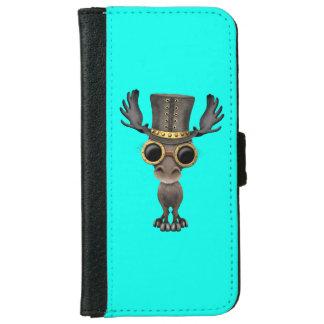 Cute Steampunk Baby Moose iPhone 6 Wallet Case