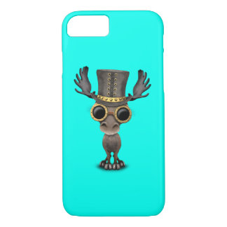 Cute Steampunk Baby Moose iPhone 7 Case