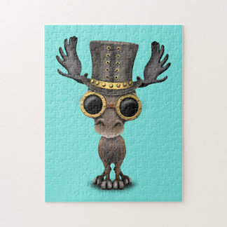 Cute Steampunk Baby Moose Jigsaw Puzzle
