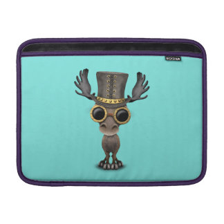 Cute Steampunk Baby Moose MacBook Sleeve