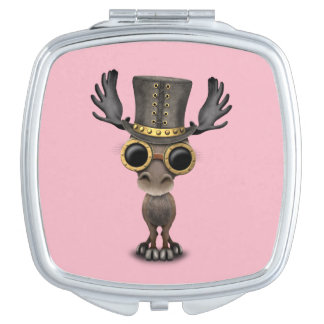 Cute Steampunk Baby Moose Mirror For Makeup