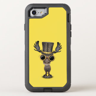 Cute Steampunk Baby Moose OtterBox Defender iPhone 8/7 Case