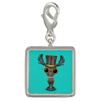 Cute Steampunk Baby Moose Photo Charms