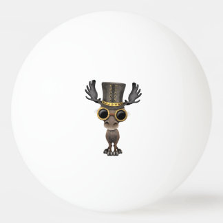 Cute Steampunk Baby Moose Ping Pong Ball