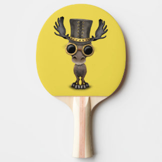 Cute Steampunk Baby Moose Ping Pong Paddle