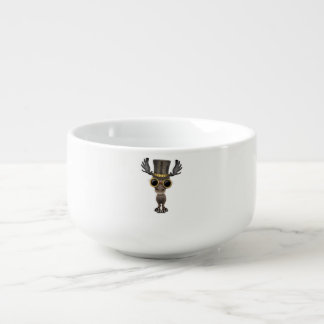 Cute Steampunk Baby Moose Soup Mug