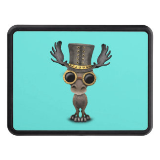 Cute Steampunk Baby Moose Trailer Hitch Cover
