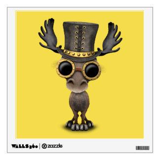 Cute Steampunk Baby Moose Wall Sticker