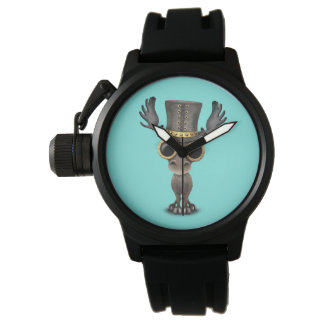 Cute Steampunk Baby Moose Watch