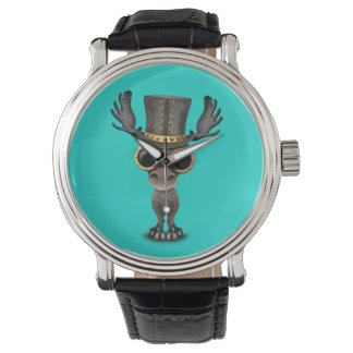 Cute Steampunk Baby Moose Watches