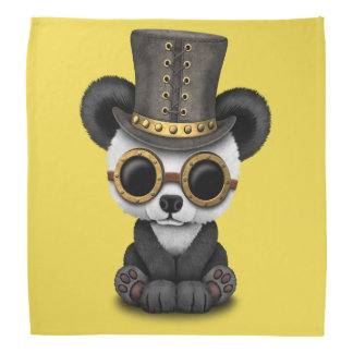 Cute Steampunk Baby Panda Bear Cub Bandana
