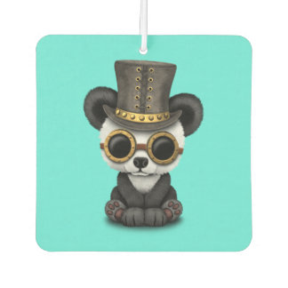 Cute Steampunk Baby Panda Bear Cub Car Air Freshener