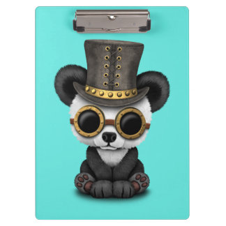 Cute Steampunk Baby Panda Bear Cub Clipboard