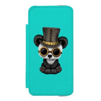 Cute Steampunk Baby Panda Bear Cub Incipio Watson™ iPhone 5 Wallet Case