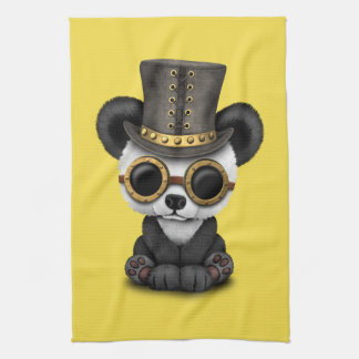Cute Steampunk Baby Panda Bear Cub Kitchen Towel