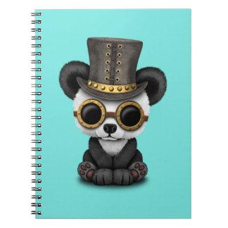 Cute Steampunk Baby Panda Bear Cub Notebooks