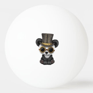 Cute Steampunk Baby Panda Bear Cub Ping Pong Ball