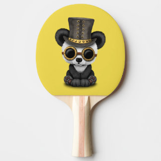 Cute Steampunk Baby Panda Bear Cub Ping Pong Paddle