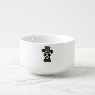 Cute Steampunk Baby Panda Bear Cub Soup Mug
