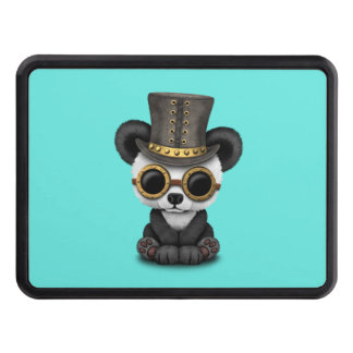 Cute Steampunk Baby Panda Bear Cub Trailer Hitch Cover