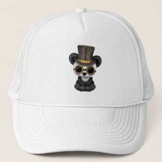 Cute Steampunk Baby Panda Bear Cub Trucker Hat