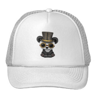 Cute Steampunk Baby Panda Bear Cub Trucker Hat