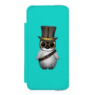 Cute Steampunk Baby Penguin Incipio Watson™ iPhone 5 Wallet Case