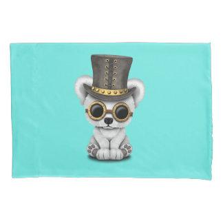 Cute Steampunk Baby Polar Bear Pillowcase