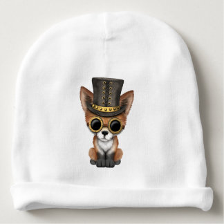 Cute Steampunk Baby Red Fox Baby Beanie