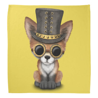 Cute Steampunk Baby Red Fox Bandana